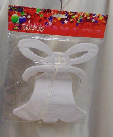 papír harang girland ,fehér (20 cm * 3,6 m)