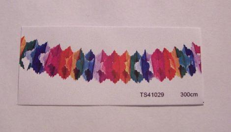 színes papírgirland (13 cm * 4 m)