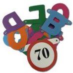 Boldog 70. születésnapot ! betűfüzér