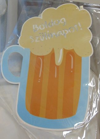ledes születésnapi tábla, söröskorsó (56*40 cm)
