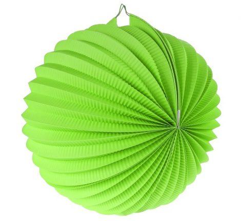 papír gömb lampion 25 cm, zöld- PF-LDKPI25