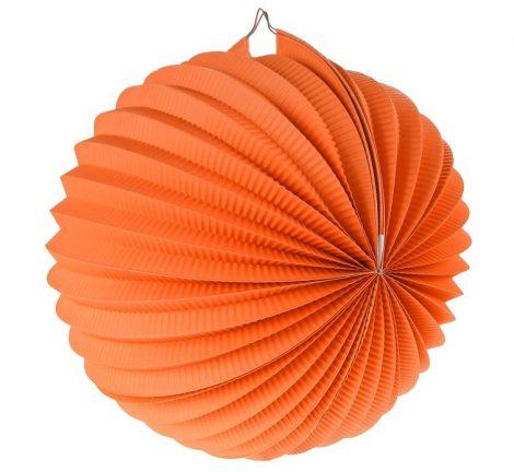 papír gömb lampion 25 cm, narancs- PF-LDKPO25