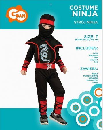 ninja jelmez (SL-NJ92)- 92-104 méret