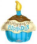 Happy birthday fólia lufi kék muffinos (45 cm)