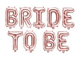 Bride to be fólia lufi felirat, rosegold