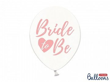 átlátszó gumi lufi rosegold Bride to be felirattal (10 db)