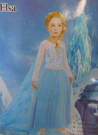 Jégvarázs, Elsa farsangi jelmez uszályos