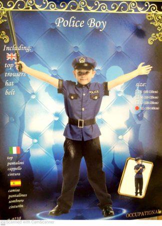 rendőr farsangi jelmez több méretben