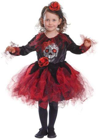 Bristol Novelty red skull tutu csontvázas farsangi jelmez