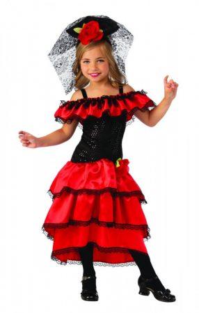 Bristol Novelty spanyol táncoslány farsangi jelmez