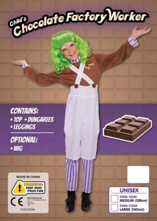 Csokigyáros munkás farsangi jelmez L