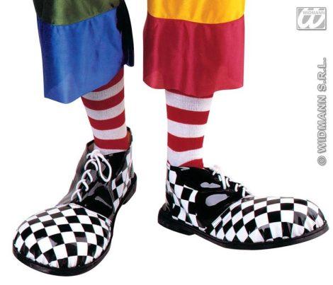 Widmann fekete-fehér kockás óriás bohóc cipő